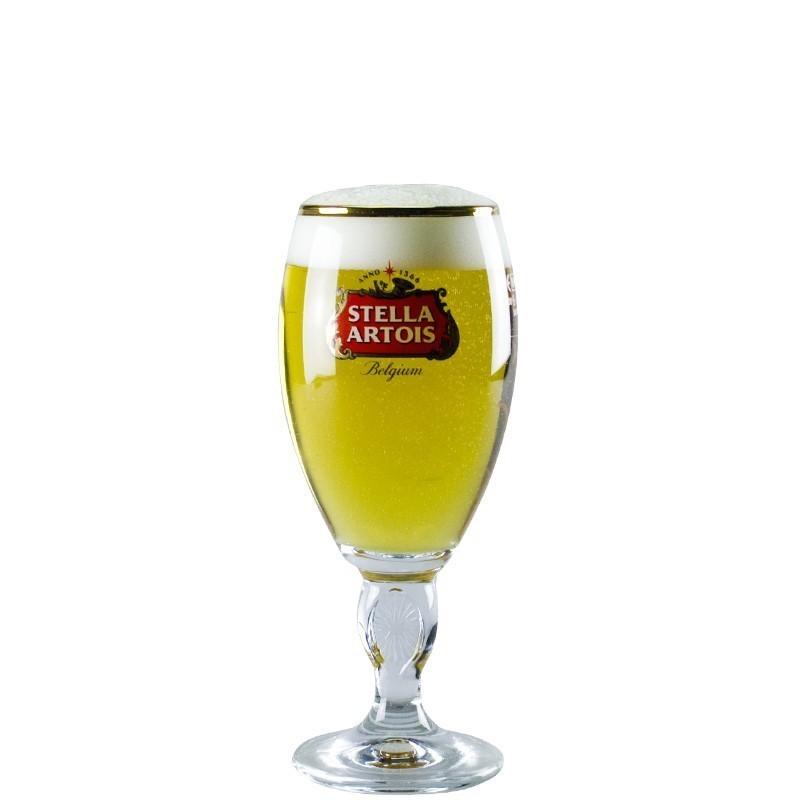 Verre à bière Stella Artois à pied 25 cl