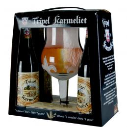 Coffret Karméliet Triple 4 btes + 1 verre - Bière Belge