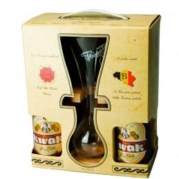 Coffret Carton Kwak 4 bts 33 cl + 1 verre Kwak - Bière Belge