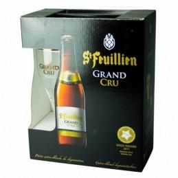 Coffret Saint Feuillien Grand Cru 4X33 cl + 1 Verre - Bière Belge