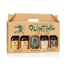 Coffret Quintine 4Bt 33cl + 1 Verre : Coffret De Bière