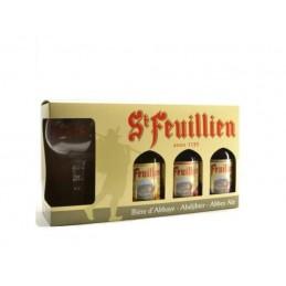 Coffret St Feuillien 3 Btl + 1 Verre : Coffret De Bière
