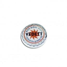 Badge Vedett Blanc