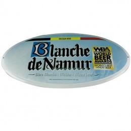Plaque métal Blanche de Namur