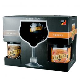 Coffret Kasteelbier 4 Bts + 1 Verre - Bière Belge