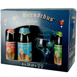 Coffret Saint Bernardus 4X33 cl + 2 Verres - Bière Belge