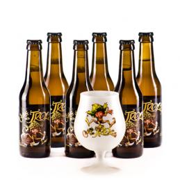 Lot de 6 bouteilles Cuvée des Trolls + 1 verre à bière Gratuit. 6 bières de saveur de la Brasserie Dubuisson