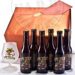 Beer-Box Cuvée des Trolls. Cadeau prêt à offrir. Bière de saveur de la Brasserie Dubuisson