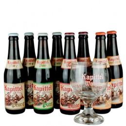 Lot de 6 bières Kapittel + 1 verre de la Brasserie Van Eecke