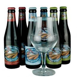 Lot de 6 bouteilles de bière Queue de Charrue + 1 verre. Bière de saveur de la brasserie Vanuxeem