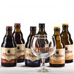 Lot de 6 bouteilles de bière SAint Feuillien