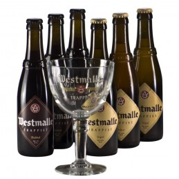 Lot de 6 bouteilles de bière Trappiste Westmalle de l'Abbaye Notre Dame du Sacré Coeur