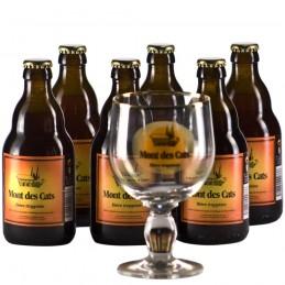 Lot de 6 bouteilles de bière du Mont des Cats. Bière de saveur de l'Abbaye de Scourmont