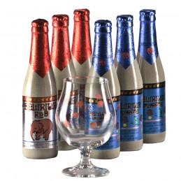 Lot de 6 bouteilles de bière Délirium Trémens. Bière de saveur de la Brasserie Huyghe