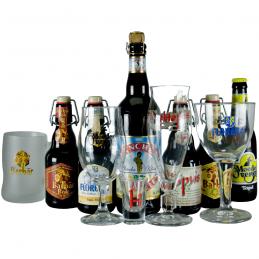 Lot de la Brasserie Lefebvre quelques bieres et quelques verres