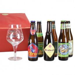 6 bières Triple  + 1 Verre...