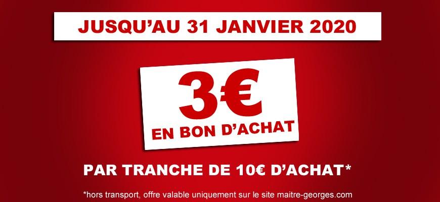 offre 3€ remboursé par tranche de 10€